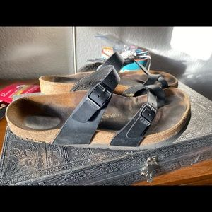 Well worn Mayari Birkenstocks